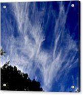 Vertical Clouds Acrylic Print