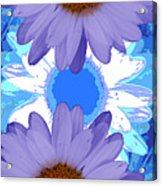 Vertical Daisy Collage Acrylic Print