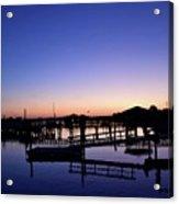 Vertical Pre-dawn Stillness At The Marina 13670 Acrylic Print