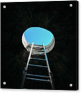 Vertical Step-ladder On Ceiling Window  Acrylic Print