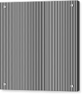 Vertical Stripes In Black And White Acrylic Print