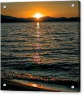 Vertical Sunset Lake Acrylic Print