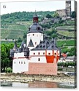 Vertical Vineyards and Buildings on the Rhine Acrylic Print