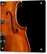 Vertical Violin Art Acrylic Print