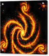Very Big Red Gold Spiral Galaxy Acrylic Print