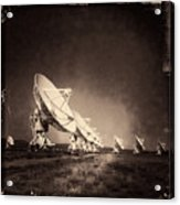 Very Large Array Sepia Acrylic Print