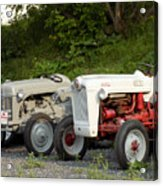 Very Old Ford Tractors Acrylic Print
