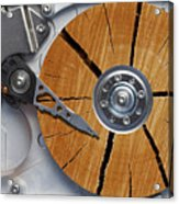 Very Old Hard Disc Acrylic Print by Michal Boubin