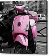 Vespa In Pink Acrylic Print by Edward Myers