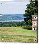 Vesper Hills Golf Club Tully New York 1st Tee Signage Acrylic Print