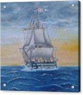 Vessel At Sea Acrylic Print