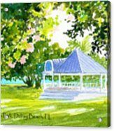 Veterans Park Gazebo Acrylic Print