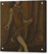 vHarmony in Yellow and Gold  The Gold Girl   Connie Gilchrist  James McNeill Whistler Acrylic Print