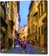 Via de Guicciardini Florence Acrylic Print