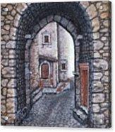 Via In Santo Stefano Acrylic Print