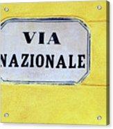 Via Nazionale Acrylic Print