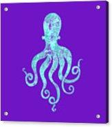 Vibrant Blue Octopus Beach House Coastal Art Acrylic Print