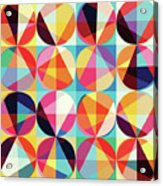 Vibrant Geometric Abstract Triangles Circles Squares Acrylic Print