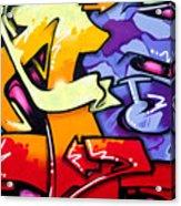 Vibrant Graffiti Acrylic Print by Richard Thomas