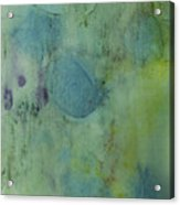 Vibrant Green Abstract Ink Design Acrylic Print