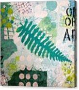 Vibrant Meadow Fern Acrylic Print
