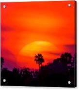 Vibrant Spring Sunset Acrylic Print