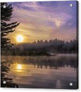 Vibrant Sunrise On The Androscoggin River Acrylic Print