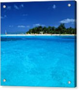 Vibrant Turquoise Waters Acrylic Print