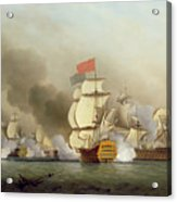 Vice Admiral Sir George Anson's Acrylic Print by Samuel Scott
