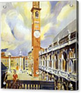 Vicenza Italy Travel Poster Acrylic Print