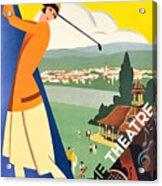 Vichy, Sport Tourism, Woman Play Golf Acrylic Print