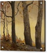 Victor Coleman Anderson 1882  1937 Wet Leaves Acrylic Print