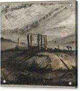 Victor Hugo   Gallows Of Montfaucon   1847 Acrylic Print