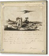 Victor Hugo   Landscape   1837 Acrylic Print