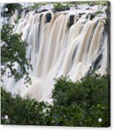 Victoria Falls Waterfall Framed Acrylic Print by Roy Toft