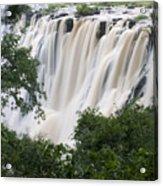 Victoria Falls Waterfall Framed Acrylic Print