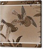 Victorian Birds In Sepia Acrylic Print