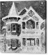 Victorian Christmas Black And White Acrylic Print
