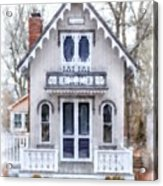 Victorian Cottage Watercolor Acrylic Print