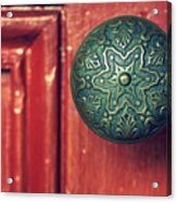 Victorian Door Handle Acrylic Print