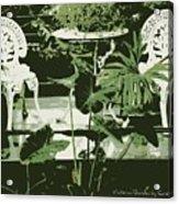 Victorian Garden Poster Acrylic Print