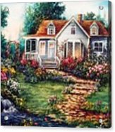 Victorian House With Gardens Acrylic Print