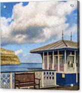 Victorian Pier In Llandudno Acrylic Print