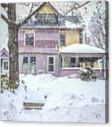 Victorian Snowstorm Acrylic Print