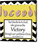 Victory - Bw Graphic Acrylic Print