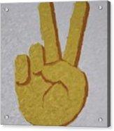 #victory Hand Emoji Acrylic Print