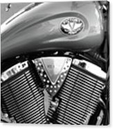 Victory Motorcycle Virginia City Nv Acrylic Print by Troy Montemayor