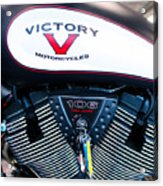 Victory Red Sq Acrylic Print