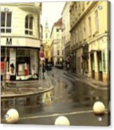 Vienna Corner After The Rain Acrylic Print