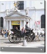 Vienna Horse And Carriage Acrylic Print